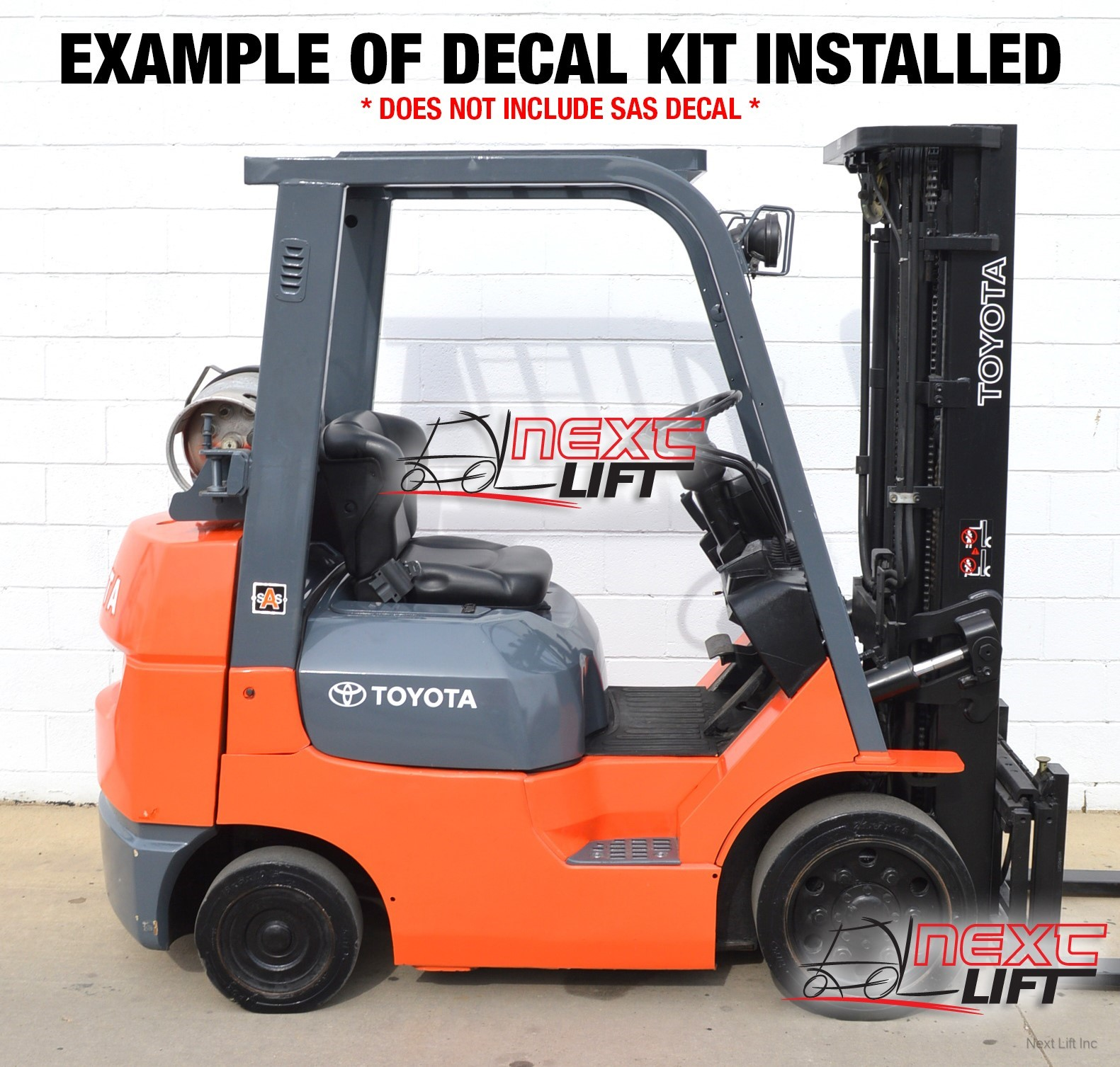 Select location type business with dock or forklift business without - Toyota Forklift Deluxe Decal Kit 7fgcu30 7fgu30 Fork