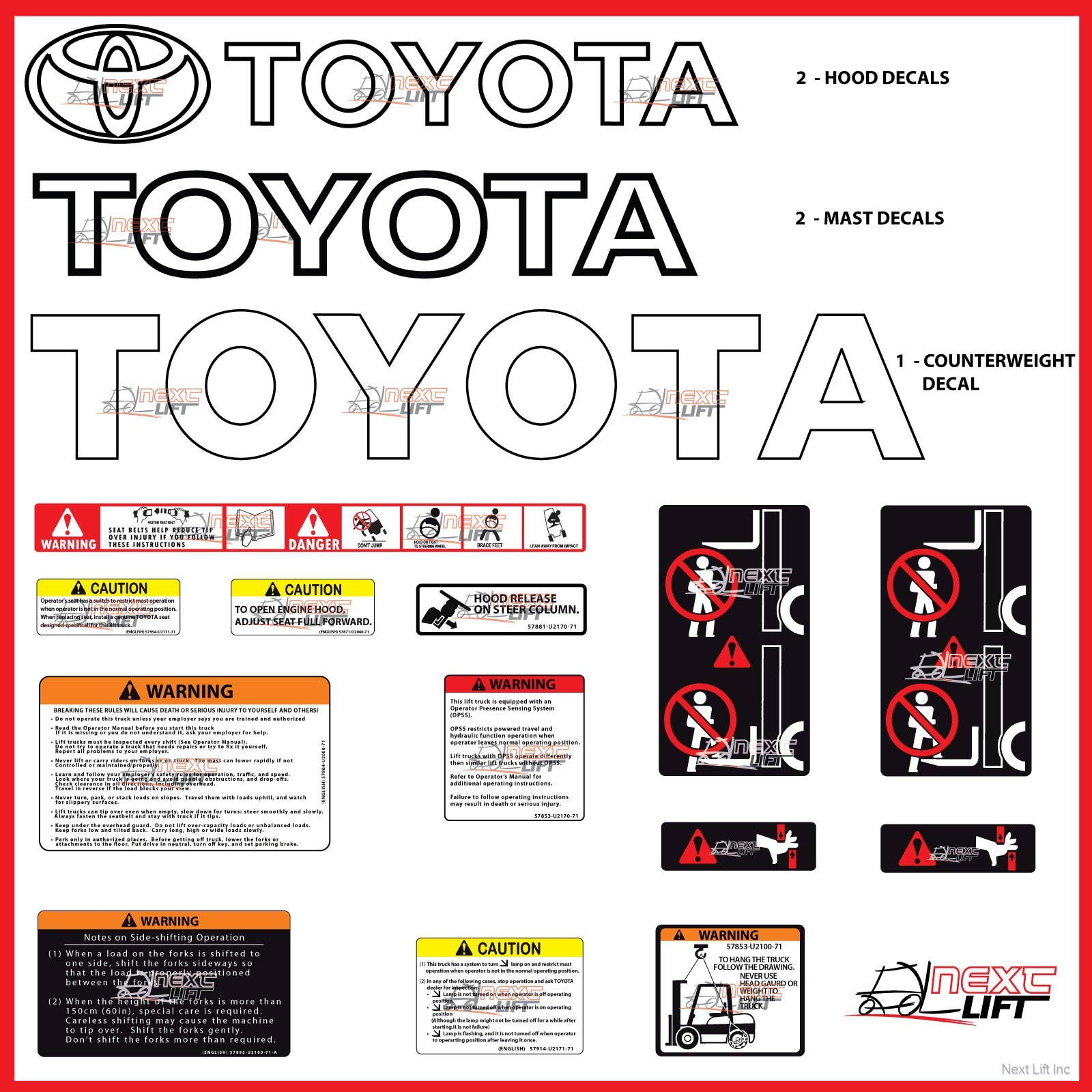 Select location type business with dock or forklift business without - Image Is Loading Toyota Forklift Deluxe Decal Kit 7fgcu30 7fgu30 Fork