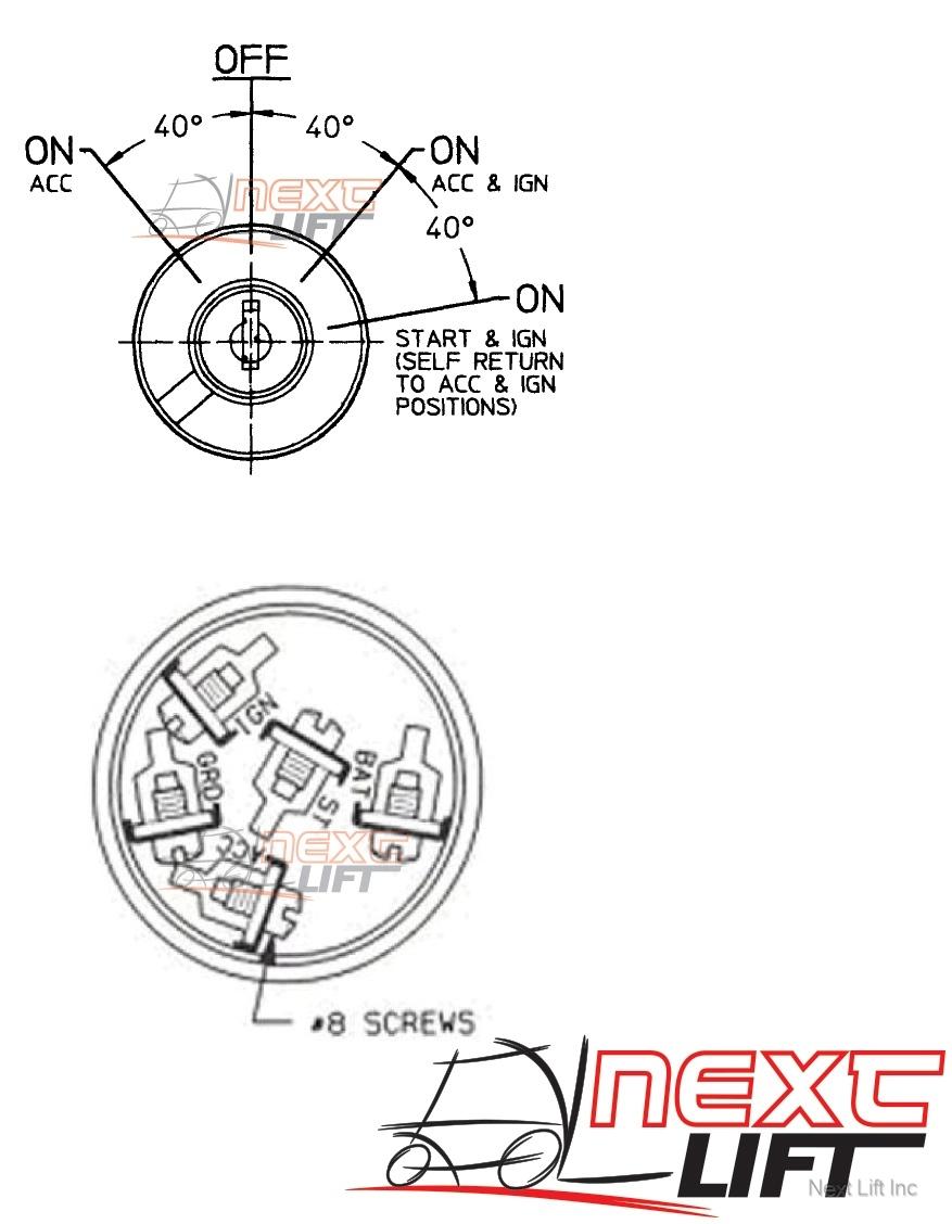 FORKLIFT UNIVERSAL IGNITION KEY SWITCH CLARK HYSTER YALE CROWN DAEWOO | eBay | Hyster Ignition Wiring Diagram |  | eBay