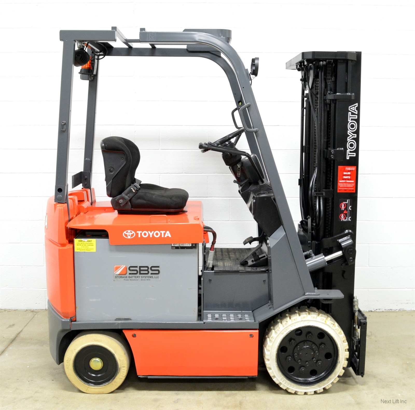 Details about CLEAN! TOYOTA 7FBCU25 5,000 LB 36V ELECTRIC FORKLIFT 4 WAY  CLAMP READY